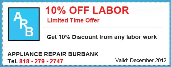 Appliance Repair Special - 10%